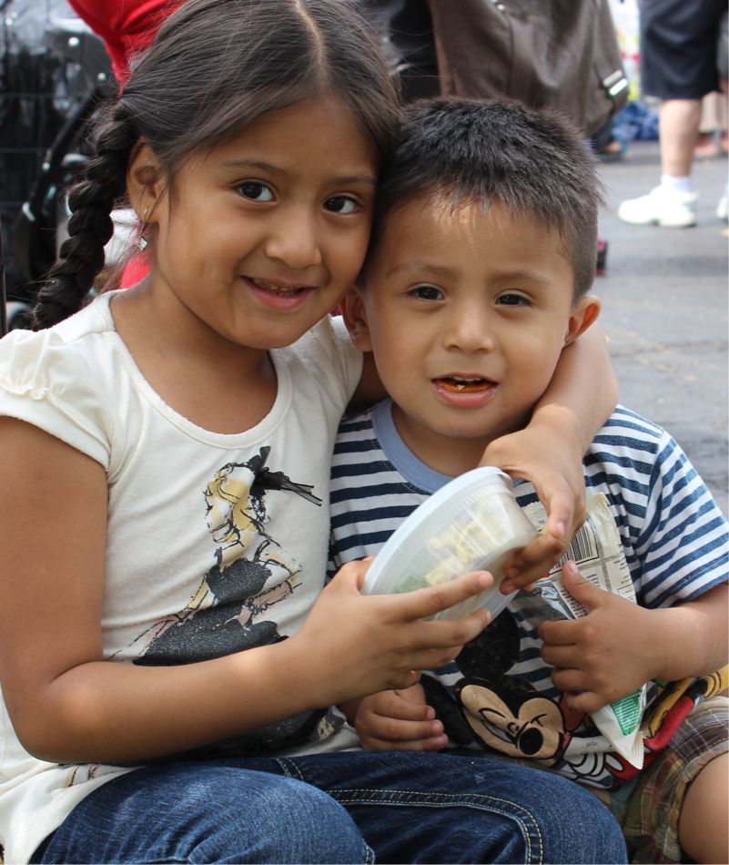 donate to children, seniors and families facing hunger